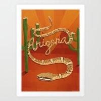 arizona Art Prints featuring Arizona by Santiago Uceda