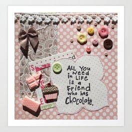 Pink chocolate Art Print