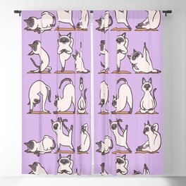 Siamese Cat Yoga Blackout Curtain