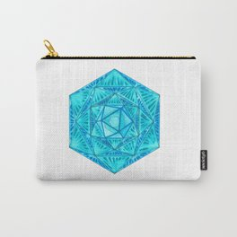 Blue hexagon Carry-All Pouch