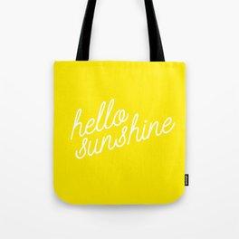 Hello Sunshine Script Tote Bag