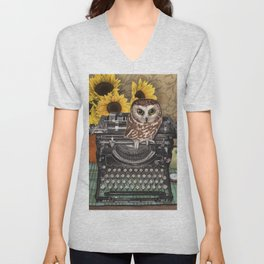 Office Owl Unisex V-Neck