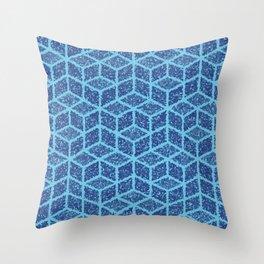 Kenna (Blue) Throw Pillow