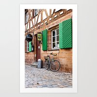 cycling Art Prints featuring Cycling by Karl-Heinz Lüpke