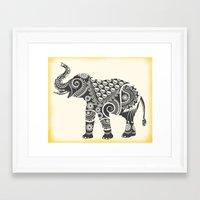 ornate elephant Framed Art Prints featuring Elephant by famenxt