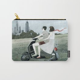 Couple On Scooter Carry-All Pouch