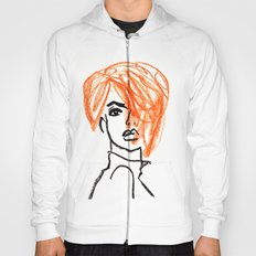 orange hair girl Hoody