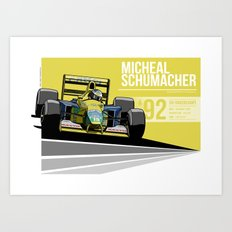 Michael Schumacher - 1992 Spa Art Print