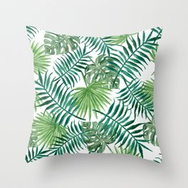 Palm Leaf Patterned Design Throw Pillow