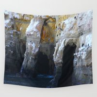 san diego Wall Tapestries featuring Cliffs of San Diego by Tdrisk46