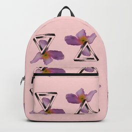 Floral Triangles - Pink Backpack