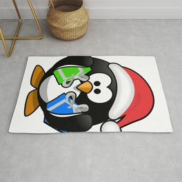 Penguin with Gifts Rug