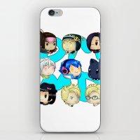 dmmd iPhone & iPod Skins featuring DMMD- chibis by prpldragon