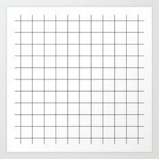 White Grid  /// www.pencilmeinstationery.com Art Print