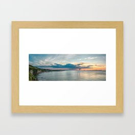 White rocks beach,ireland,Northern Ireland,Portrush Framed Art Print