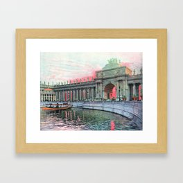 Peristyle at Sunrise in Color, Chicago World's Fair 1893 Framed Art Print