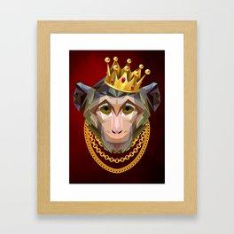 The King of Monkeys Framed Art Print