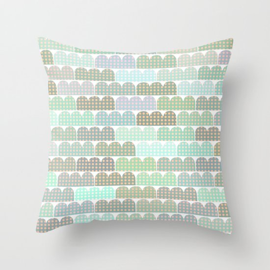 blue things behind the sun Throw Pillow