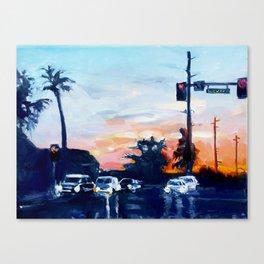 Triple Digits Canvas Print
