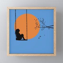 Dreaming like a child Framed Mini Art Print