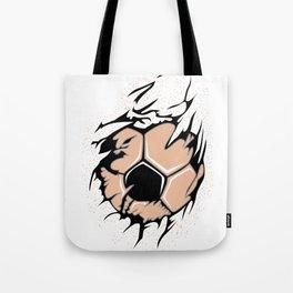 Fan Ball Soccer Flames Scratch WM EM Gift Tote Bag