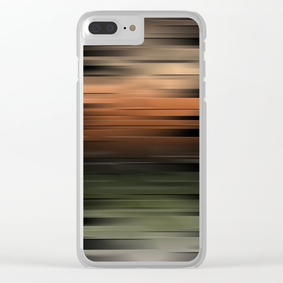 Hues of Autumn Abstract Clear iPhone Case