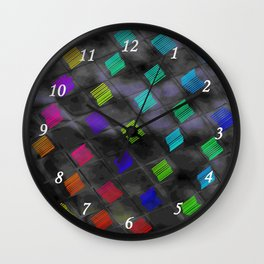 Square Color Wall Clock