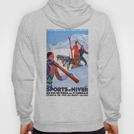 1930 Winter Sports In The French Alps Poster Hoody