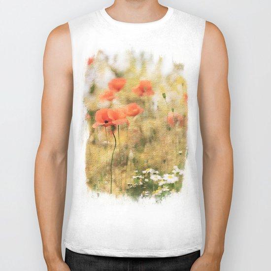 Poppy meadow -  photoadaption Biker Tank