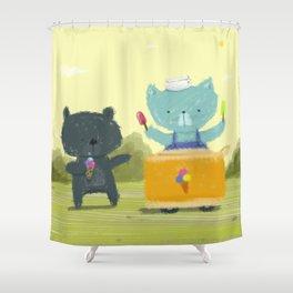 Happy Ice Cream Day Shower Curtain