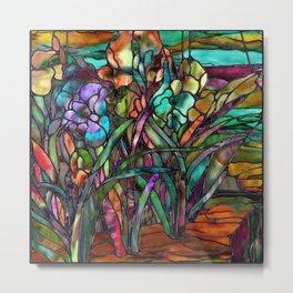 Candy Coated Irises Metal Print