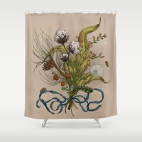 north carolina Shower Curtains featuring North Carolina Memories by Jessica Roux