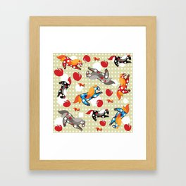 Паттерн с лошадками Framed Art Print