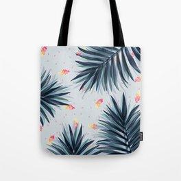Unique Delicate Tropical Leaves Pattern Tote Bag