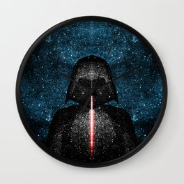 Darth Vader with Lightsaber in Galaxy Wall Clock