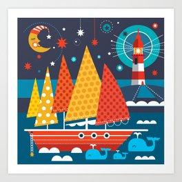 SHIP AHOY Art Print