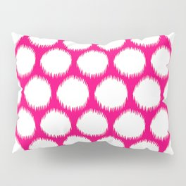 Pink Asian Moods Ikat Dots Pillow Sham