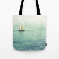 sailing Tote Bags featuring Sailing by Lawson Images