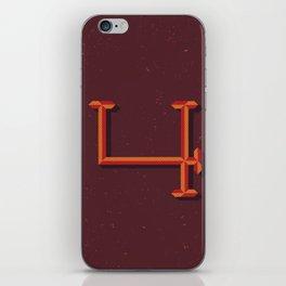 Alphabet Daily Drop Caps-4 iPhone Skin