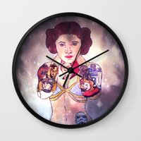 princess leia Wall Clocks featuring Leia by Artistic
