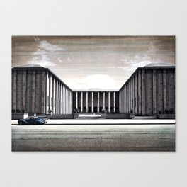 THE STREET OF WARSAW Canvas Print