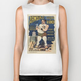 Funny vintage meat extract advertising Biker Tank
