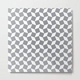 Grey Op Art Pattern Metal Print