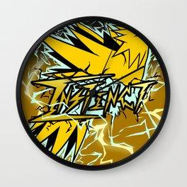 Team Instinct Tag Art Wall Clock