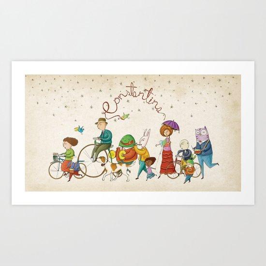 ¡Hola amigos! Art Print
