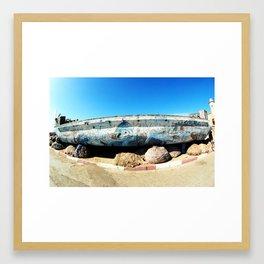 Essaouira harbour, Morocco, Africa Framed Art Print