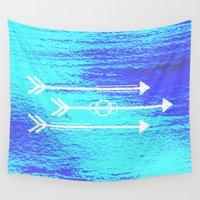 arrows Wall Tapestries featuring Arrows by HollyJonesEcu