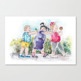 The Sweet Eaters - The Trio Canvas Print