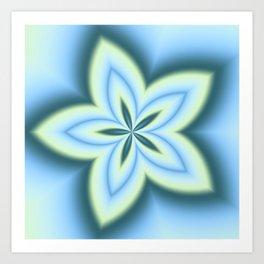 String Art Flower in MWY 01 Art Print