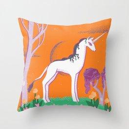The Unicorn's Garden  Throw Pillow
